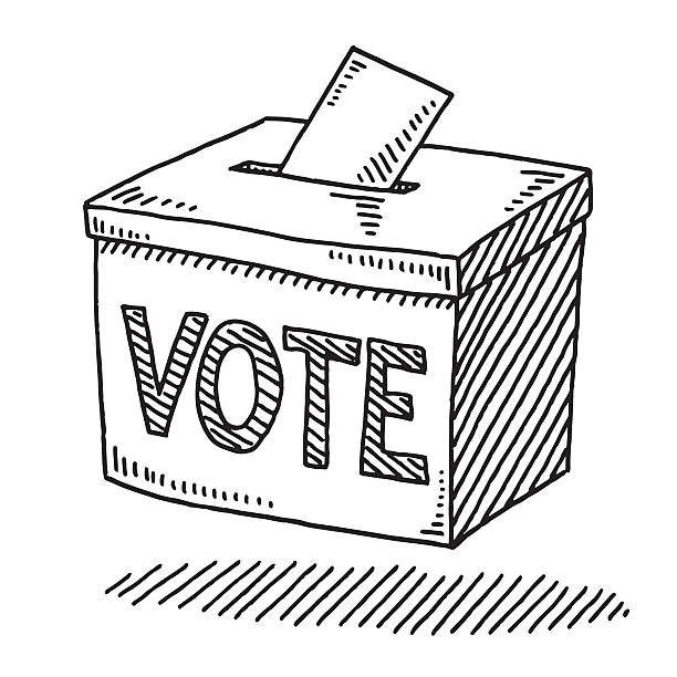 Black and White Ballot Box